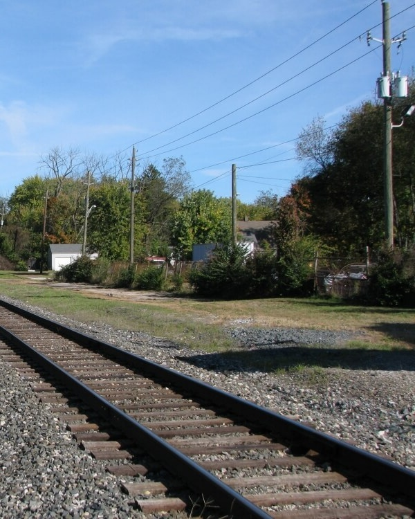View of the B & O Railroad in Irvington Indianapolis