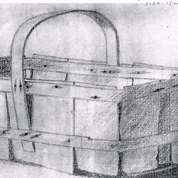 Basket Drawing by Nancy's Grandmother, 1890