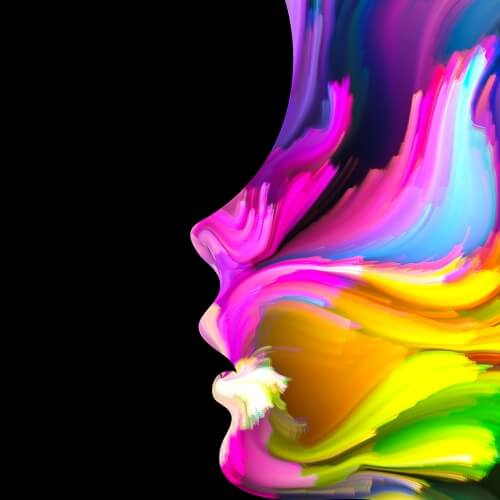 Colorful Woman's Face