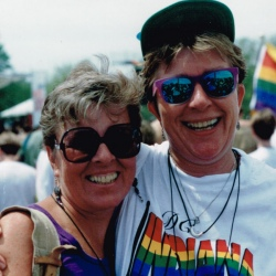 Nancy and MG at the 1993 March on Washington
