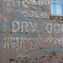 Dry Goods Sign on a Building in Irvington
