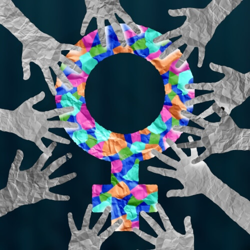 Woman Symbol and Hands Image