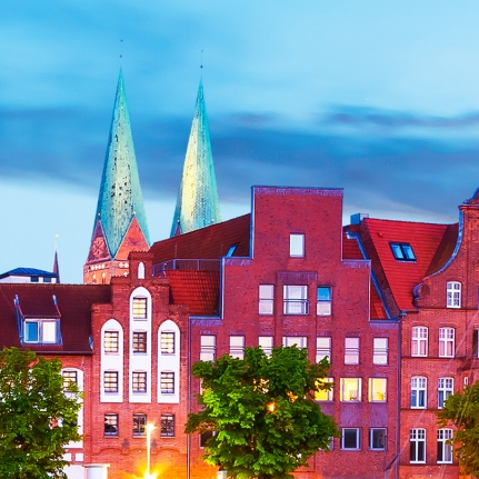 Image of a pretty little German town